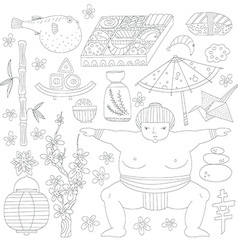 Japanese symbols vector