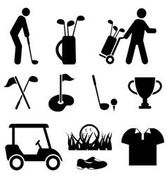 Golf and golfers vector image