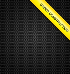 Under construction line background vector