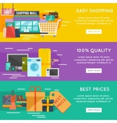 Shopping banner set vector