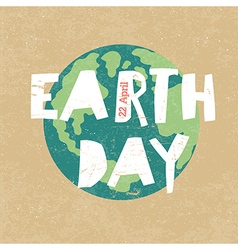 Earth day earth day 22 april paper cut letters vector