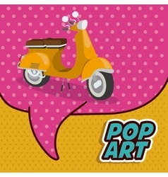 Scooter pop art design vector