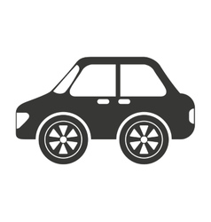 Sedan style car isolated icon design vector