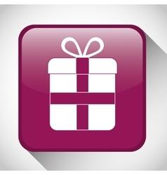 Gift button icon social media design vector