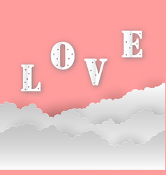 abstract love backgroundlove romantic messages vector image