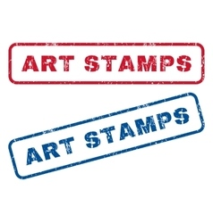 Art stamps rubber stamps vector