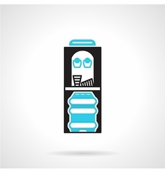 Bicolor flat icon for water cooler vector image vector image