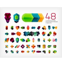 Blank geometric banner design templates vector image vector image