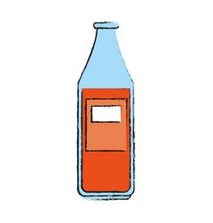 bottle of soda icon vector image