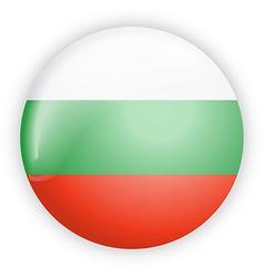 Bulgaria flag button vector image