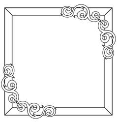 Contour decorative ornate frame vector image vector image