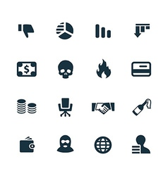 crisis icons set vector image