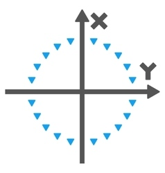 Dotted circle plot flat symbol vector