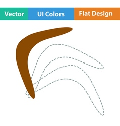 Flat design icon of boomerang vector
