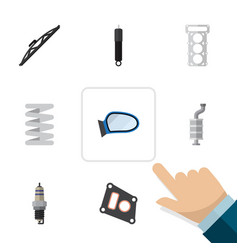 Flat parts set of gasket auto component packing vector