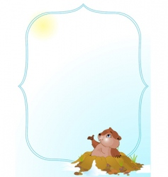 Groundhog day background vector