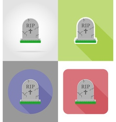 Halloween flat icons 06 vector