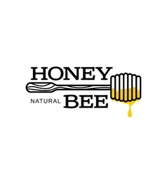 Hand-drawn dipper logo for honey products vector image