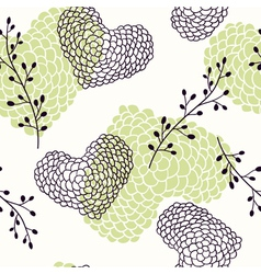 Handdrawn hearts seamless pattern vector image