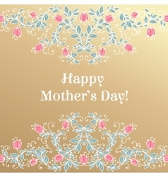Happy Mothers day hand drawing floral vector image