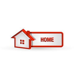 House icon and button vector