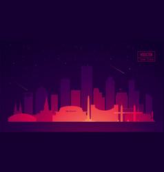 Houston skyline buildings vector