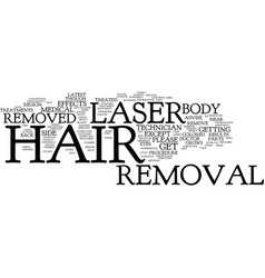 Laser hair removal the procedure text background vector