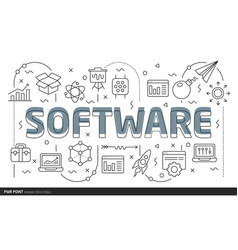 Lines template software vector