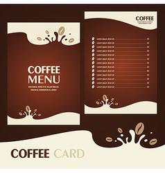 Menu coffee card vector