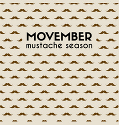Movember mustache season mustache pattern vector