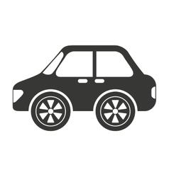 Sedan style car isolated icon design vector