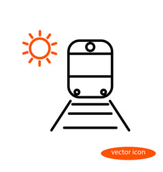 simple image of a train on rails with vector image vector image