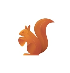 Squirrel trend volume gradient vector image