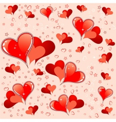 valentines day pattern vector image