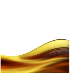 Wave of honey or olive oil vector image vector image