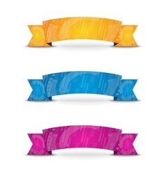Color ribbon set vector