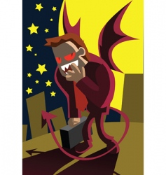 Demon-businessman vector