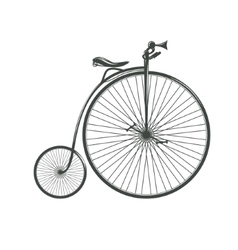 Old vintage high bicycle vector image