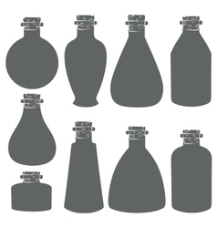 Set with the image of the vials tubes vector