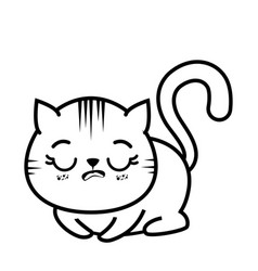 isolated cute tired cat vector image
