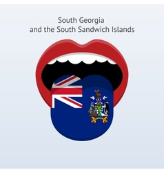 South georgia and sandwich islands language vector