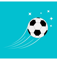 Flying football soccer ball motion trails stars 2 vector