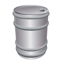 metallic barrel vector image