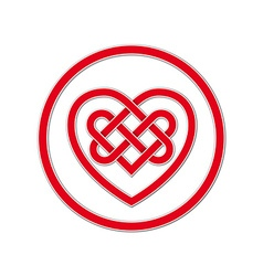 Celtic knot symbol of eternal love vector