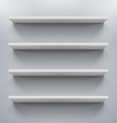 Shelves vector image