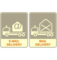 email delivery vector image