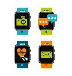 Smartwatch technology design vector