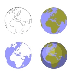 Earth globe set 001 vector