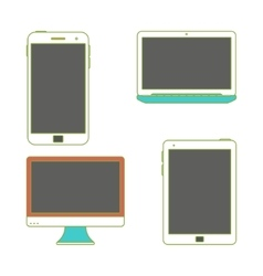 Gadgets with blank screens vector