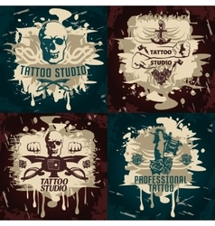 Tattoo studio designs vector